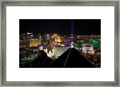 Las Vegas Night Pano Framed Print