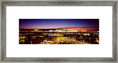 Las Vegas Nv Framed Print by Panoramic Images