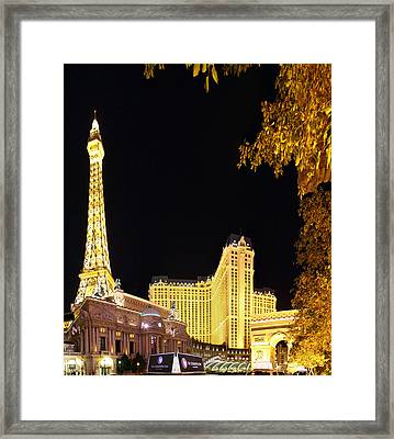 Las Vegas - Paris Casino - 01132 Framed Print by DC Photographer