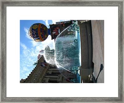 Las Vegas - Paris Casino - 121214 Framed Print by DC Photographer