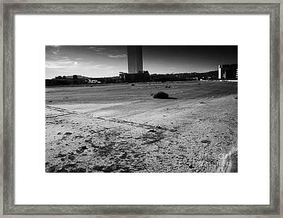 las vegas plaza empty vacant unused lot on the Las Vegas strip Nevada USA Framed Print by Joe Fox