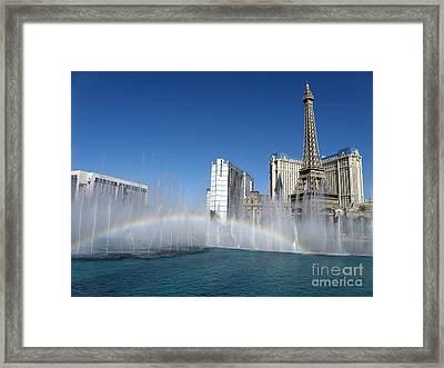 Las Vegas Rainbow Framed Print by Tanya  Searcy