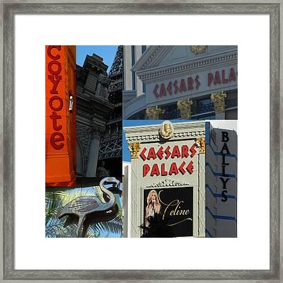 Las Vegas Scenes  Framed Print