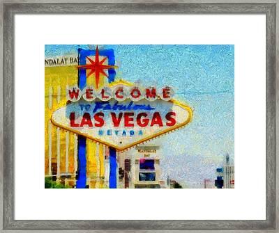 Las Vegas Sign Framed Print by Dan Sproul