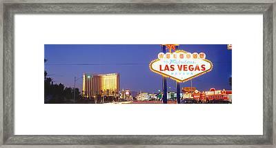 Las Vegas Sign, Las Vegas Nevada, Usa Framed Print