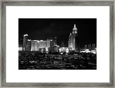 Las Vegas Skyline Bw Framed Print