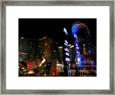 Las Vegas - South Strip 001 Framed Print by Lance Vaughn