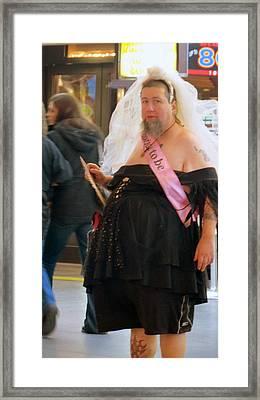 Las Vegas Street Person Framed Print
