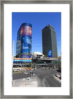 Las Vegas Strip 7 Framed Print by Frank Romeo