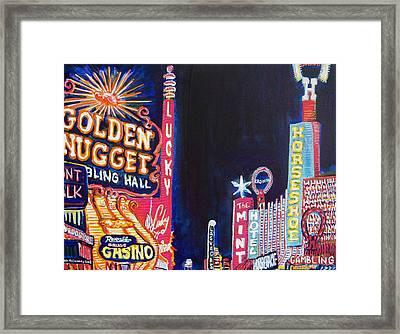 Las Vegas Strip Framed Print by Mitchell McClenney