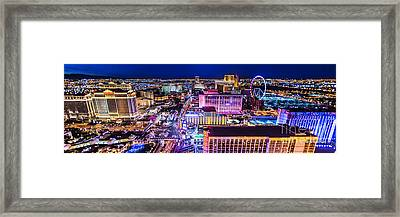 Las Vegas Strip North View 3 To 1 Aspect Ratio Framed Print
