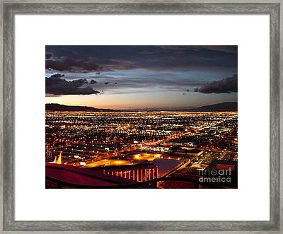 Las Vegas Sunset Framed Print by Addie Hocynec