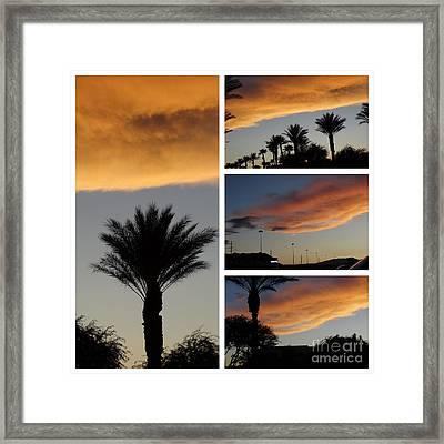 Las Vegas Sunset Framed Print