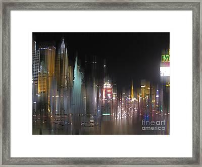 Las Vegas Surreal 2 Framed Print