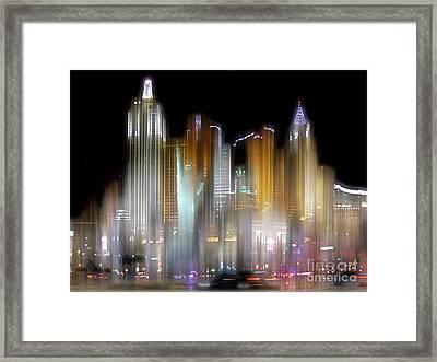 Las Vegas Surreal Framed Print
