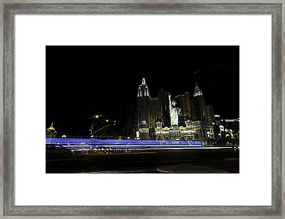 Framed Print featuring the photograph Las Vegas Traffic 2 by James Sage