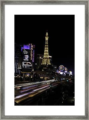 Framed Print featuring the photograph Las Vegas Traffic 5 by James Sage
