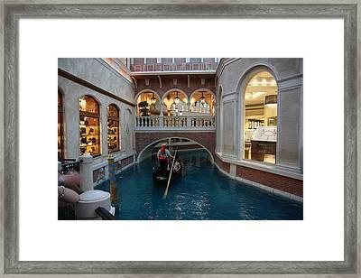 Las Vegas - Venetian Casino - 121215 Framed Print by DC Photographer