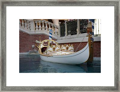 Las Vegas - Venetian Casino - 121244 Framed Print by DC Photographer