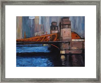 Lasalle Avenue Bridge Chicago Framed Print