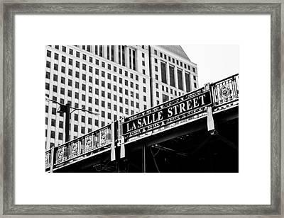 Lasalle Street Bridge Framed Print by Lauri Novak