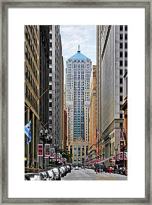 Lasalle Street Chicago - Wall Street Of The Midwest Framed Print