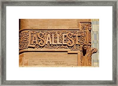 Lasalle Street Sign Framed Print by John Babis