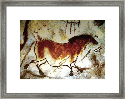Lascaux Horse - Version 2 Framed Print