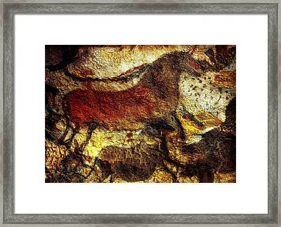 Framed Print featuring the photograph Lascaux II No. 1 - Horizontal by Jacqueline M Lewis