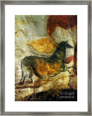 Framed Print featuring the photograph Lascaux II Number 4 - Vertical by Jacqueline M Lewis