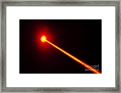 Laser Beam Framed Print by GIPhotoStock