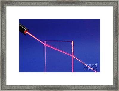 Laser Beam Refracting Framed Print by GIPhotoStock