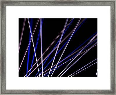 Laser Beams Framed Print by Denise Keegan Frawley