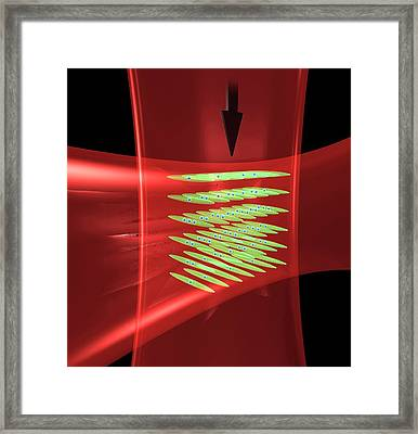 Laser Beams In Atomic Clock Framed Print