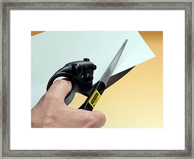 Laser-guided Scissors Framed Print