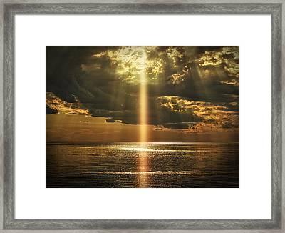 Laser Light Reflections Framed Print