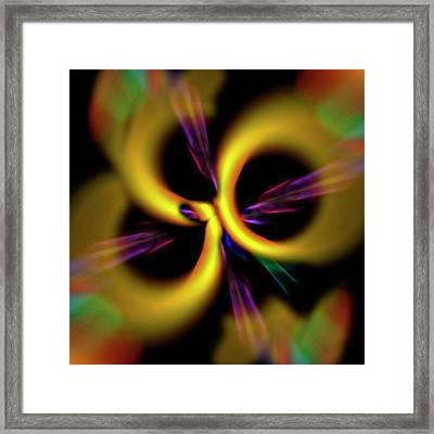 Laser Lights Abstract Framed Print by Carolyn Marshall