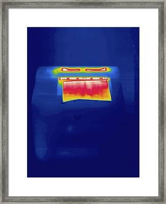 Laser Printer, Thermogram Framed Print by Science Stock Photography