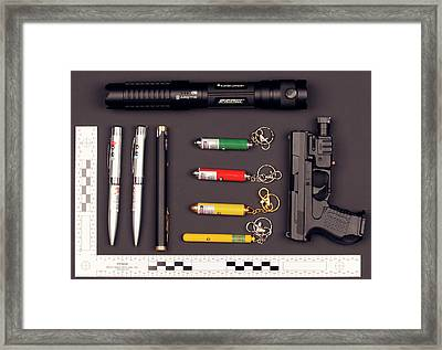 Laser Products Framed Print