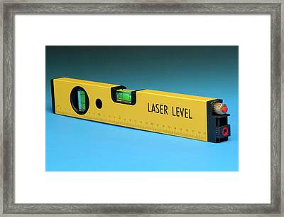 Laser Spirit Level Framed Print