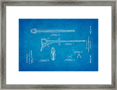 Lasko Hood Ornament Patent Art 1951 Blueprint Framed Print by Ian Monk