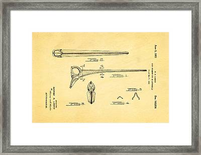 Lasko Hood Ornament Patent Art 1951 Framed Print by Ian Monk