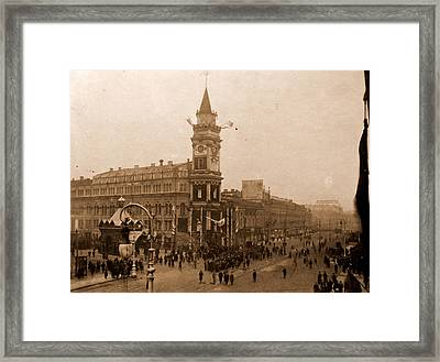 Lassalle House, Commemoration Of October Revolution Framed Print by Litz Collection