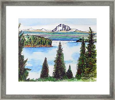 Lassen And Almanor Framed Print