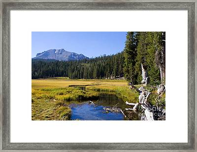 Lassen Mountain Stream Framed Print