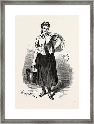 Lassommoir, Gervaise, Emile Zola, 19th Century Framed Print