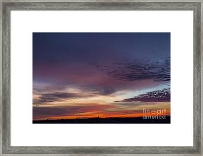 Last 2012 Sunrise Framed Print by Michael Waters