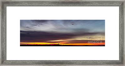 Last 2012 Sunrise Panoramic Framed Print by Michael Waters
