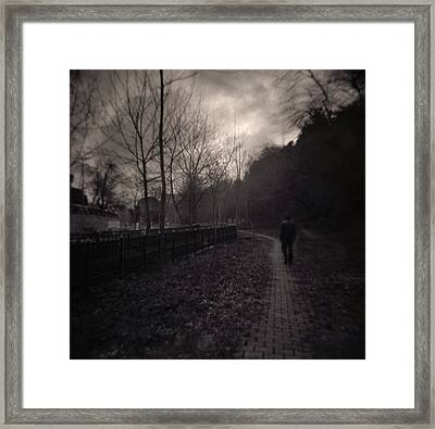 Last Alone Framed Print
