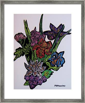 Last Bouquet Framed Print by Celeste Manning